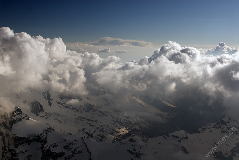 Clouds above Alps