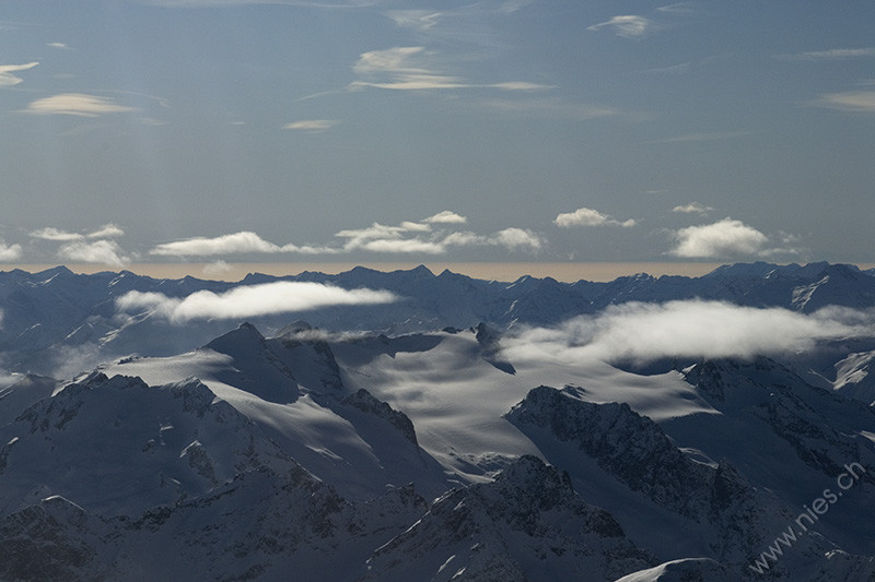Swiss Alps with clouds