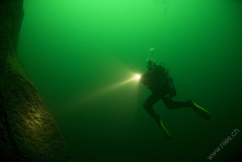 Diver with Lamp