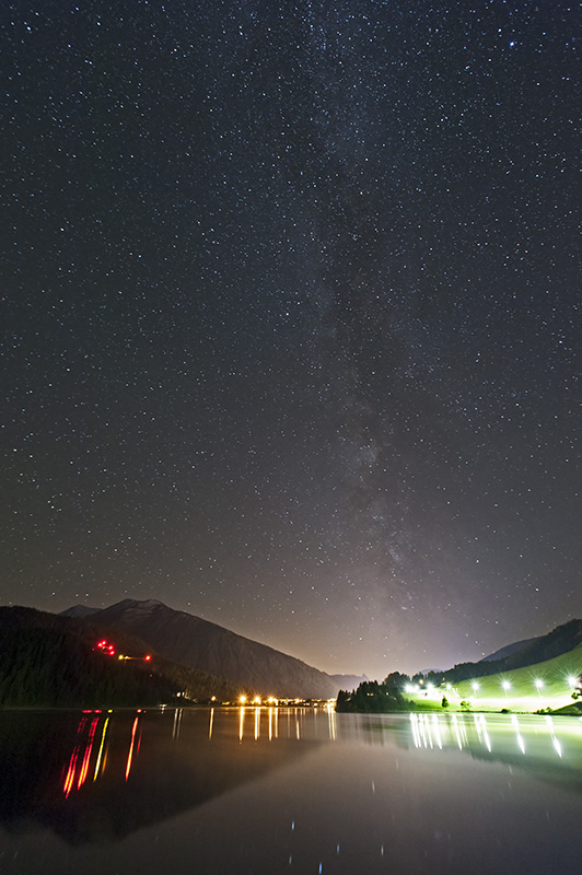 Milky Way above Lake Davos