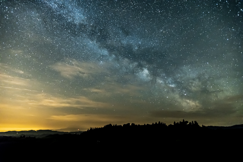 Milky Way above Light Pollution