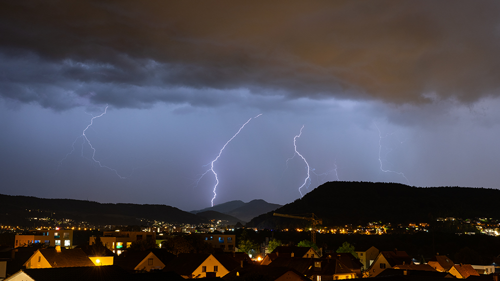 Thunderstorm above Zurich