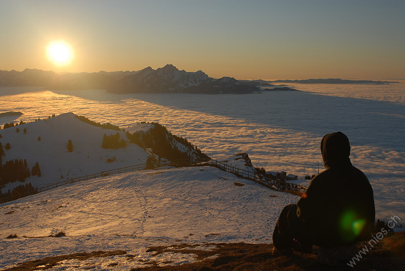 Rigi Fogsea and Sunset
