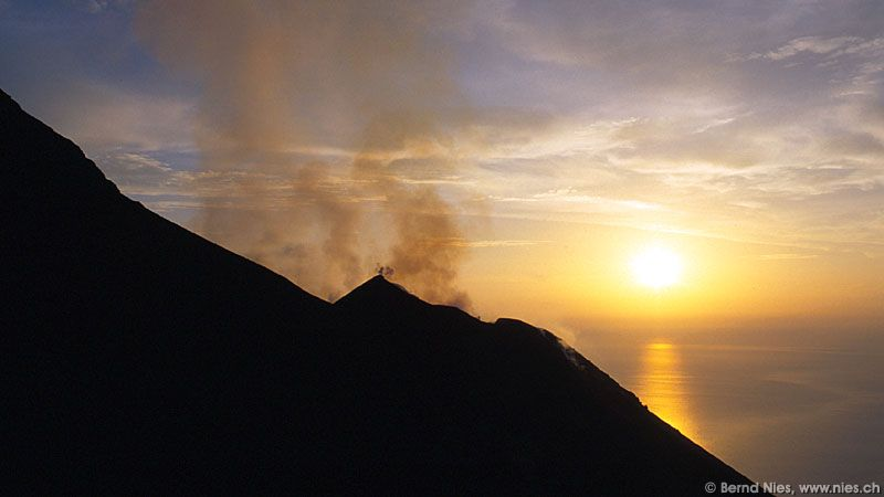 Sunset with Volcano