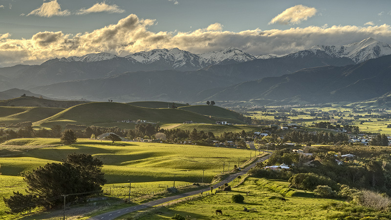 Sunset in Kaikoura © Bernd Nies