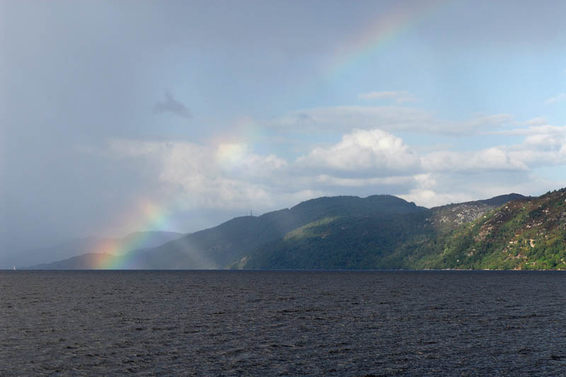 Rainbow above Loch Ness