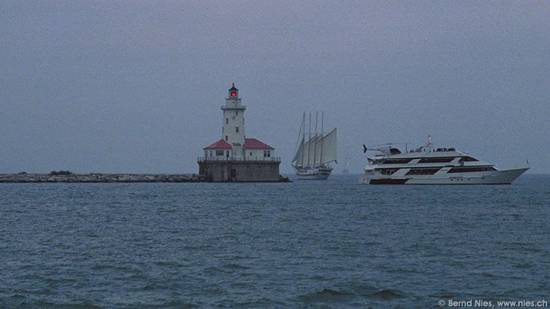 Lighthouse with Ships