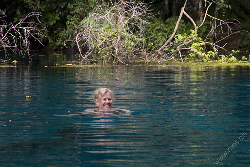 Swimming in Blue Hole