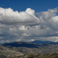 Clouds above Troodos Mountains