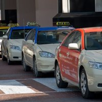 Taxis at Mall of Emirates
