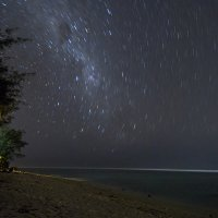 Startrails on Beach