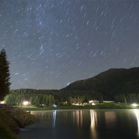 Star Trails over Lake Davos