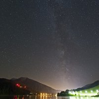 Milky Way over Lake Davos