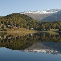 Reflections in Lake St. Moritz