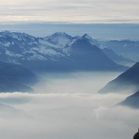 Fog over Lake Lucerne