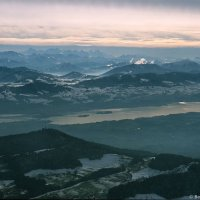 Bachtel, Lake Zurich and the Alps