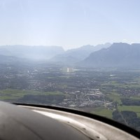 Approaching Salzburg Airport