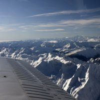 Flying above Swiss Alps