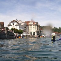 On the River Reuss through Lucerne