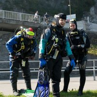 Three divers