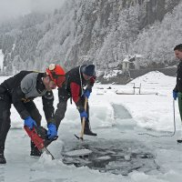 Three Men on a Icehole