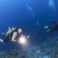 Diver with Strobe